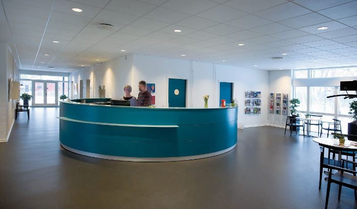 Reception, Fano Health Center, Danmark