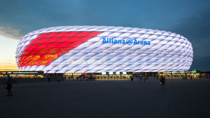 Philips LED Sonderbeleuchtung Allianz Arena under Audi Cup - Idrottsbelysning