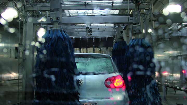 Car wash lighting for petrol stations
